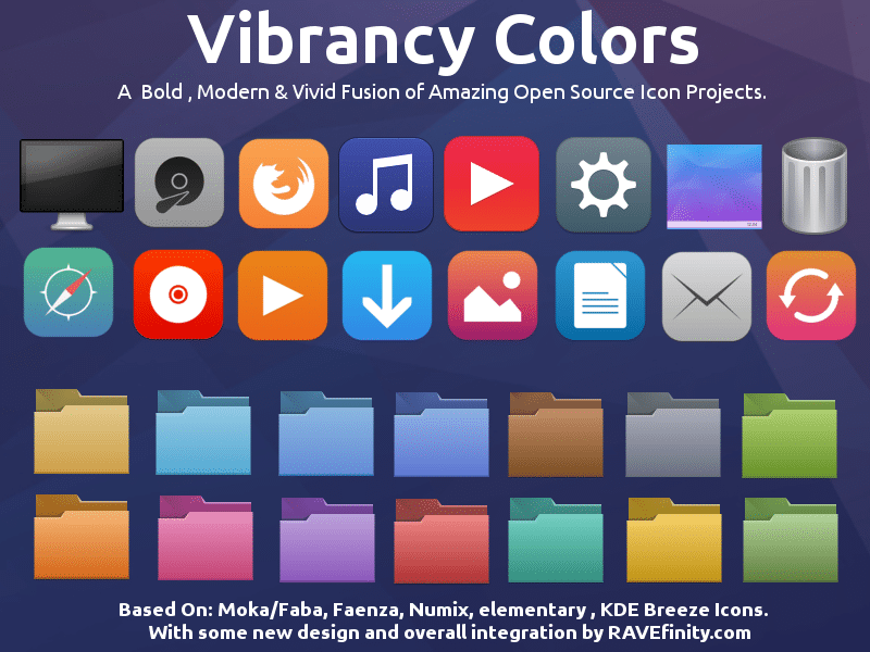 vibrancy colors icon theme for linux