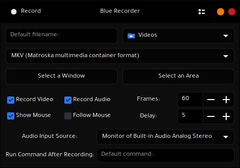 واجهة برنامج Blue Recorder