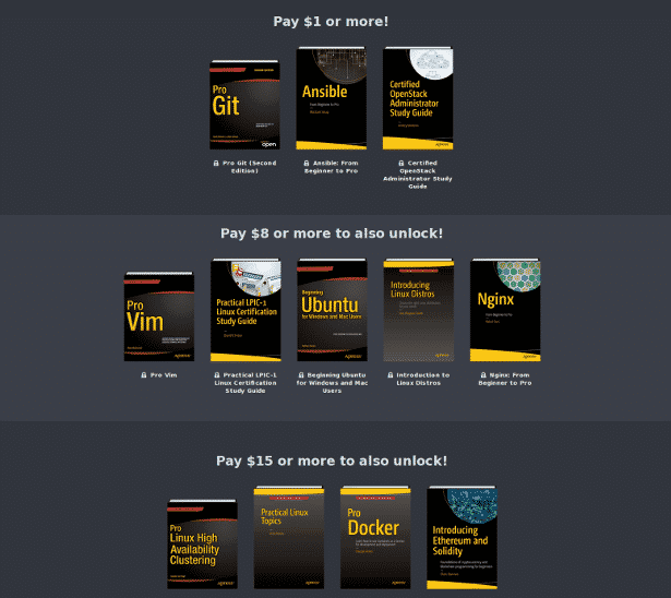 humble book bundle linux and open source books