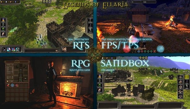 legends of ellaria rts and fps sandbox coming to linux in gaming news