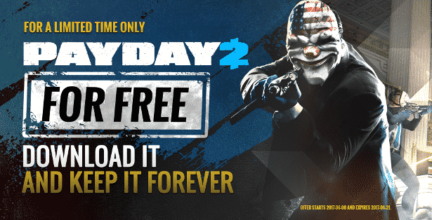payday 2 now free 5 millions copies for limited time with linux via steam games