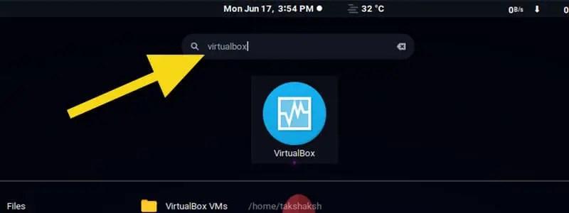 installed vitualbox