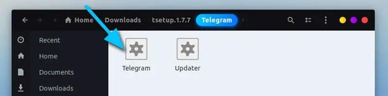 Telegram downloaded files for Linux