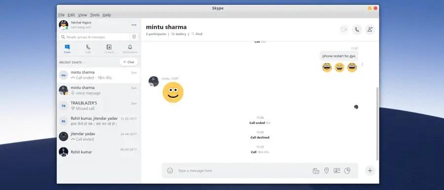 Using skype in Linux