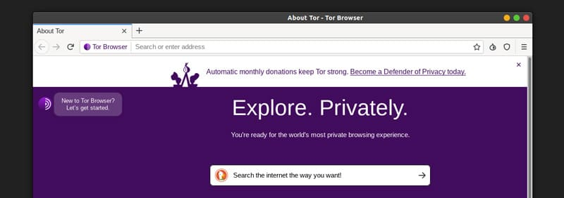 browsing the internet with tor