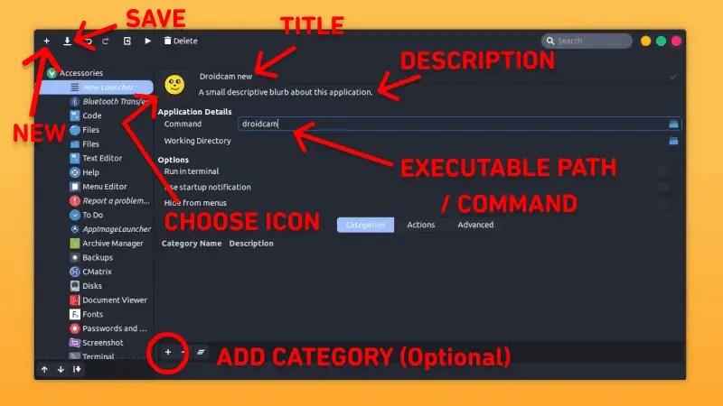 Desktop entry creation