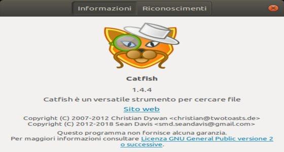 catfish utilità di ricerca