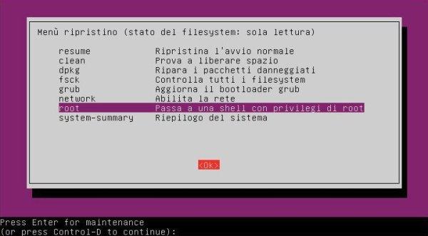 reimpostare-password-linux