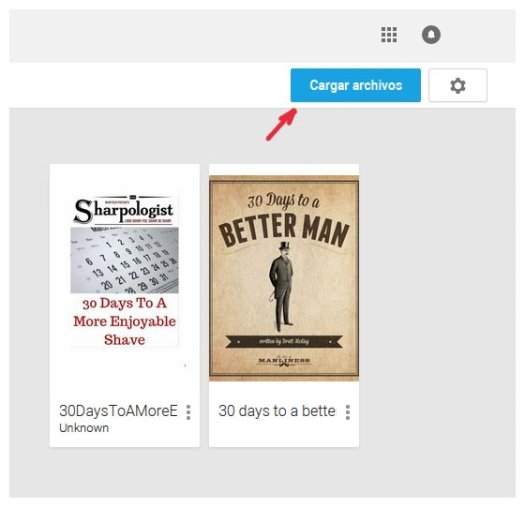 Subir libros a play books