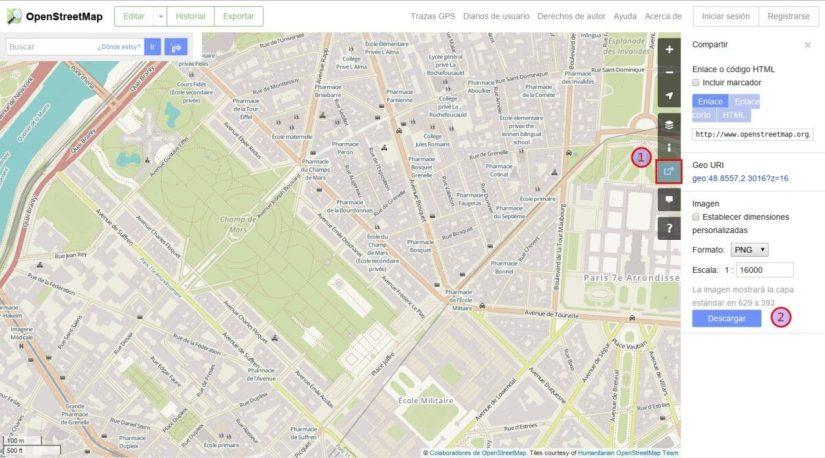 descargar un mapa en openstreetmap