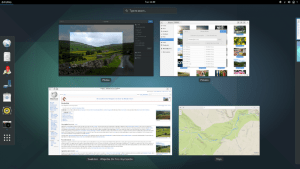 The GNOME 3 Activities Overview