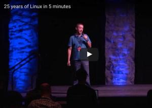 Twenty Five Years of Linux Video