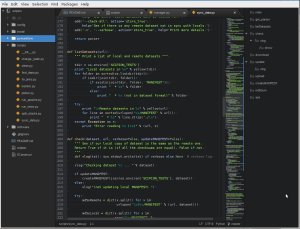 A picture of the atom text editor
