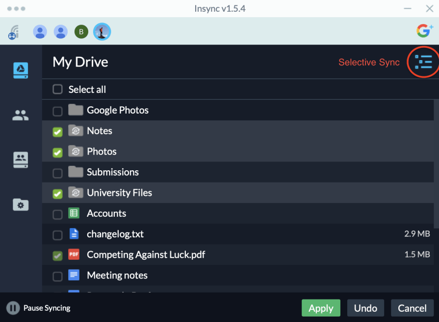 Insync with Google Drive