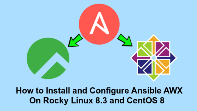 How to Install and Configure Ansible AWX on Rocky Linux 8.3 and CentOS 8
