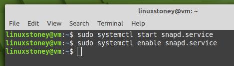 linux mint snapd service enable
