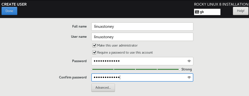 Rocky Linux Create user Account