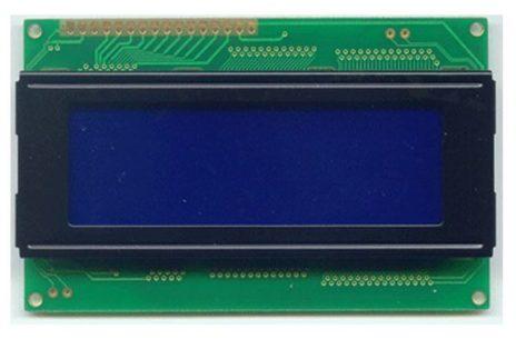 4x20 karakteres LCD, az adatok kijelzésére.