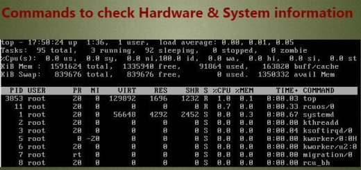 Commands to check Hardware & System information