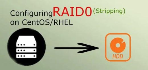 configuring raid0