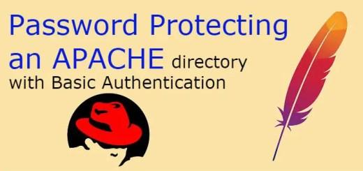password protect apache