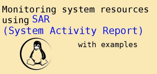 sar command in linux