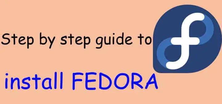 install fedora