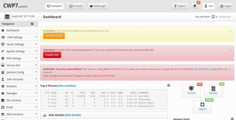 install centos web panel