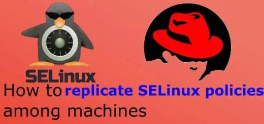 replicate selinux policies