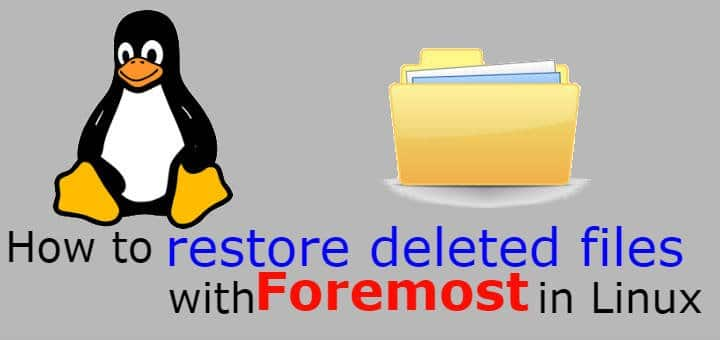 Restore deleted files in Linux