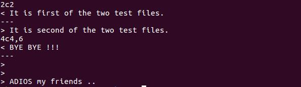 compare files in Linux
