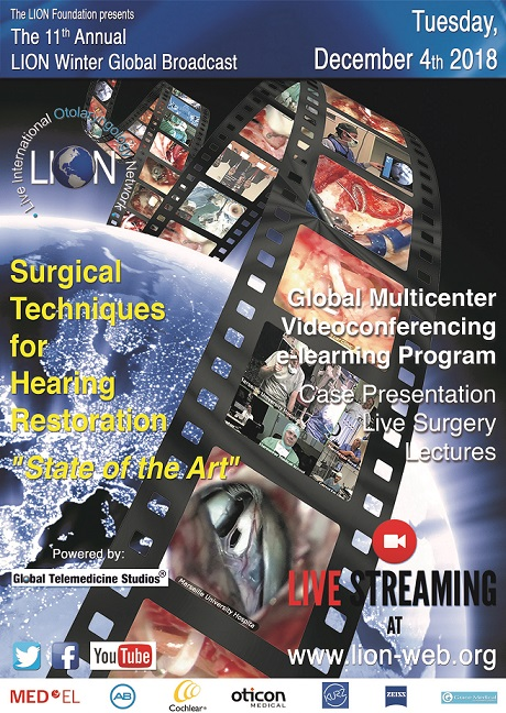 program of the live surgery broadcast december 4th 2018 Program of the Live Surgery Broadcast December 4th 2018 Full page advert LION december 2018 ENT News V2b