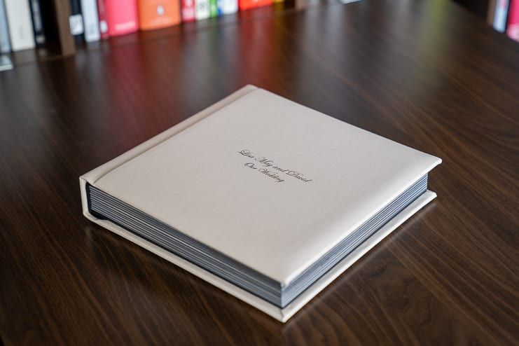 leather bound luxury wedding photography album