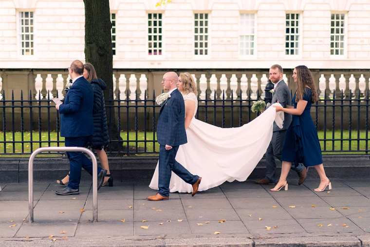 bridal party at donegal square east belfast