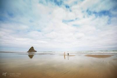 auckland wedding photography karekare beach elopement