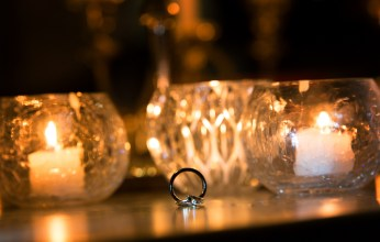 ring shot of the bride and groom by Auckland Wedding Photographer Lionel Tan
