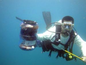L. Scott Harrell Hunting Lionfish