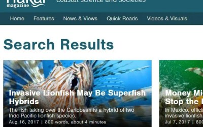 Hakai Magazine Lionfish News Articles