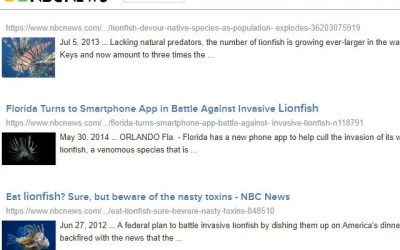 NBC Lionfish News Articles