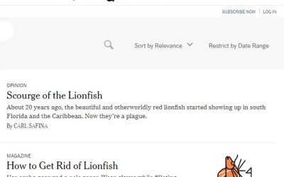 New York Times Lionfish News Articles