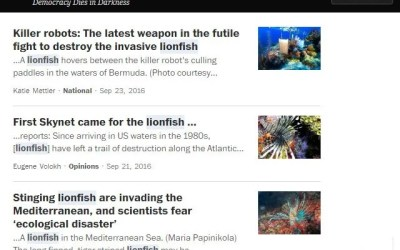 The Washington Post Lionfish News Articles