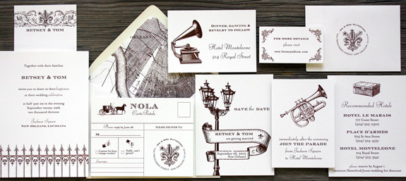 Luxury Wedding Invitations By Ceci New York Our Muse Festive Orleans