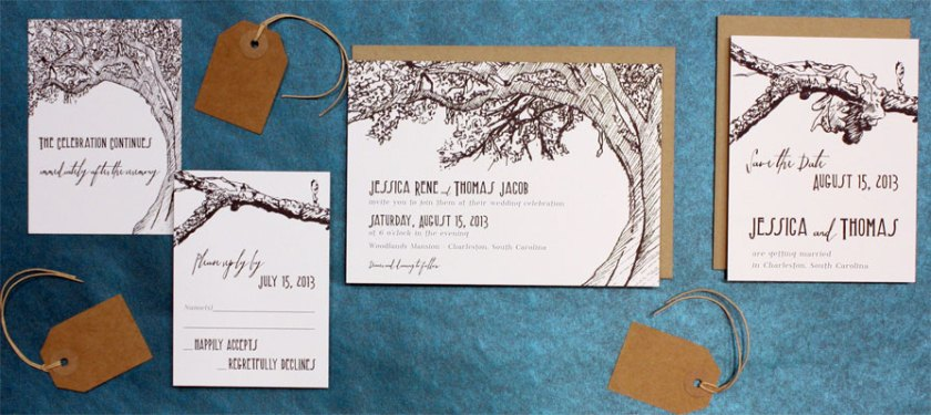A Tree Grows In Brooklyn Wedding Invitations Exclusively From Postscript