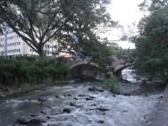 the river runs through town