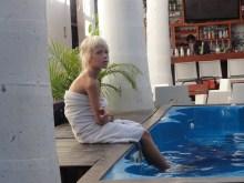 at a pool in santa marta
