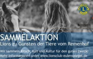 Lions Club Braunschweig Eulenspiegel sammelt wieder. 4K für die Tiere vom Remenhof