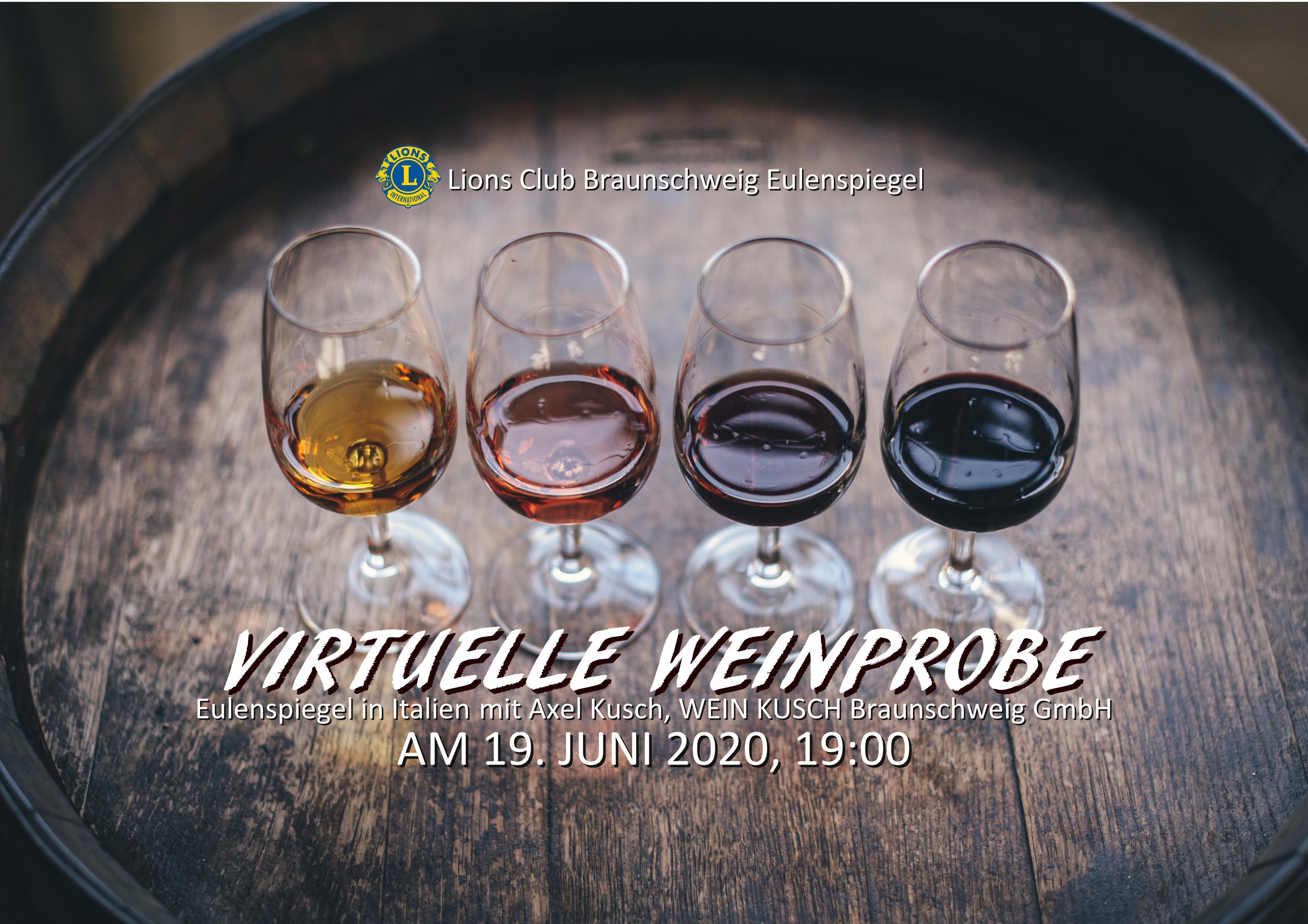 Virtuelle Weinprobe mit dem Lions Club Eulenspiegel