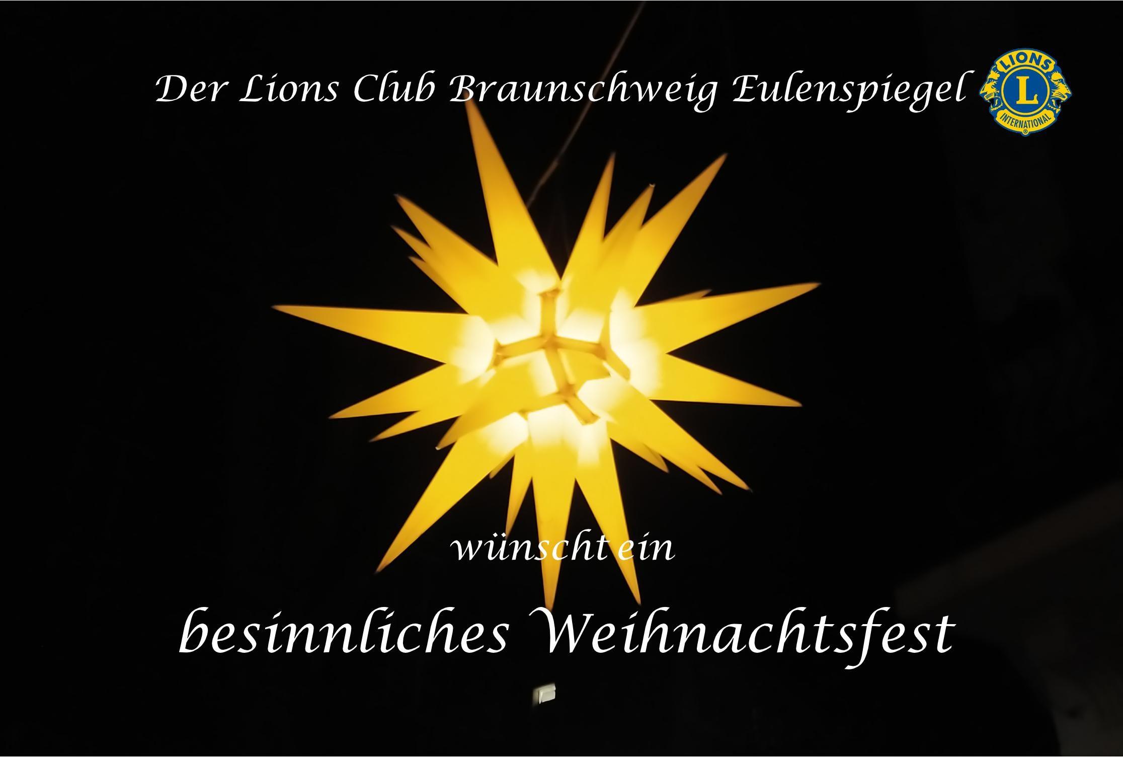Lions Club Braunschweig Eulenspiegel Weihnachten 2020