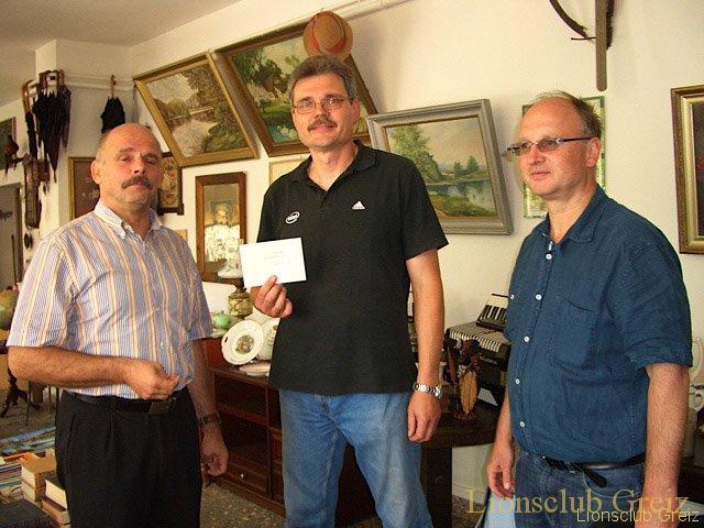 Spendenübergabe der Greizer Lions