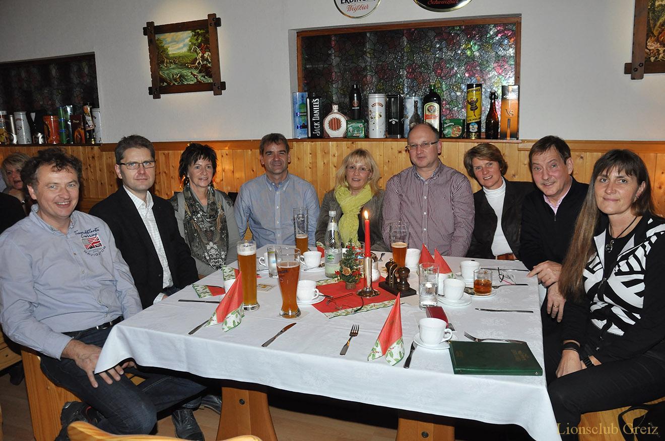 """Greizer Lions treffen sich zur Weihnachtsfeier bei """"Seckels"""" in Moschwitz"""